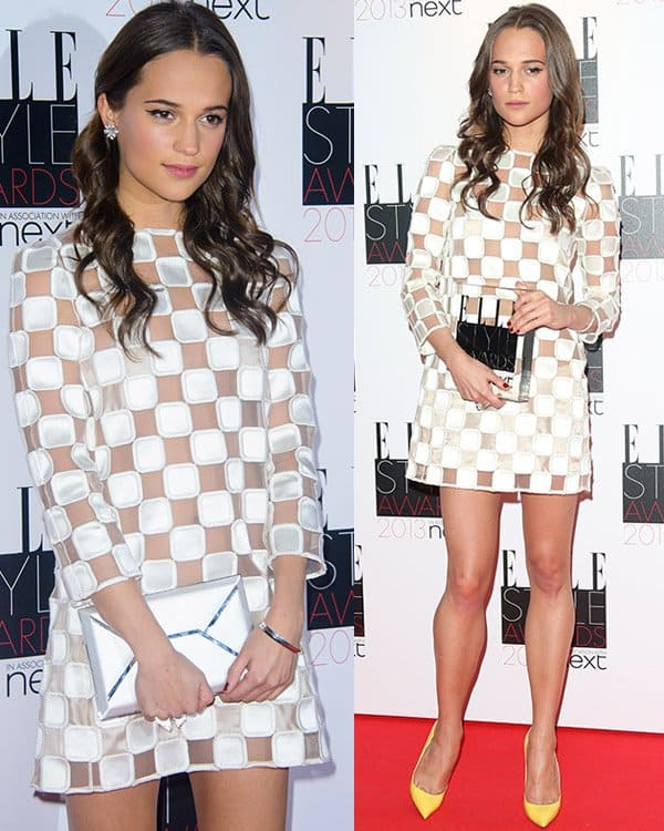 Alicia Vikander in Louis Vuitton Spring 2013 Dress at 2013 Elle Style Awards