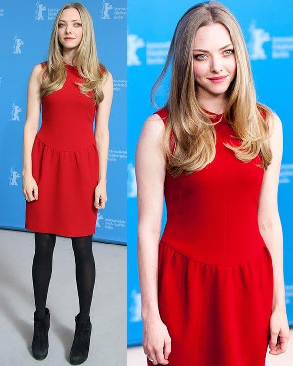 Amanda Seyfried in Roksanda Illincic Red Dress