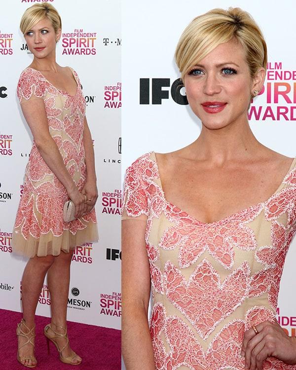 Brittany Snow at 2013 Film Independent Spirit Awards at Santa Monica Beach