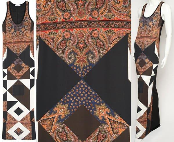 Givenchy Multi Print Maxi Dress