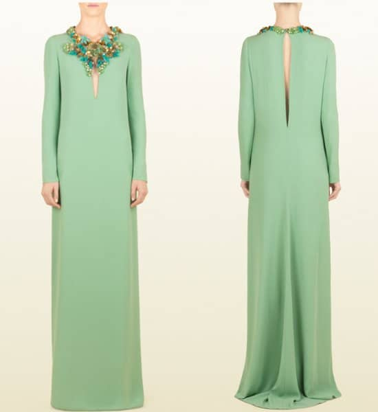 Gucci-Pale-Light-Sable-Gown-with-jeweled-neckline