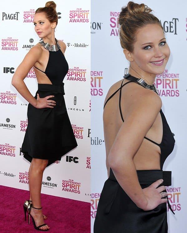 Jennifer Lawrence at 2013 Film Independent Spirit Awards at Santa Monica Beach