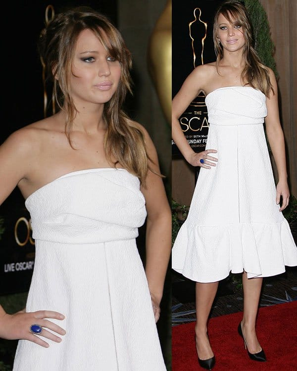 Jennifer Lawrence at the 85th Academy Awards Nominees Luncheon held at Beverly Hilton Hotel