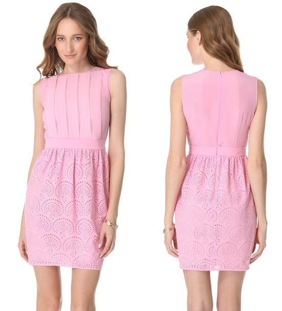 Crisp cotton eyelet adds a sweet touch of structure to a fun, flirty dress from M Missoni