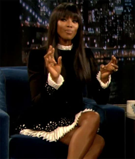 Naomi Campbell at Late Night with Jimmy Fallon