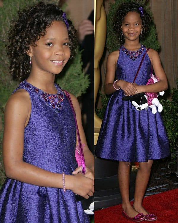 Quvenzhane Wallis at the 85th Academy Awards Nominees Luncheon held at Beverly Hilton Hotel