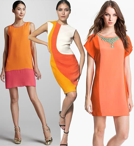 Short and Sassy Orange Dresses
