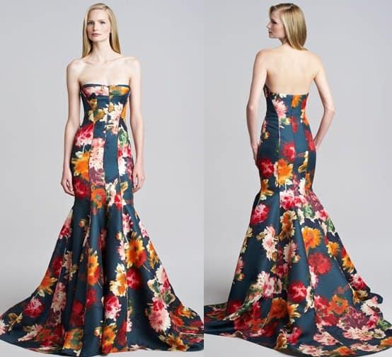 j mendel floral gazar strapless gown-horz