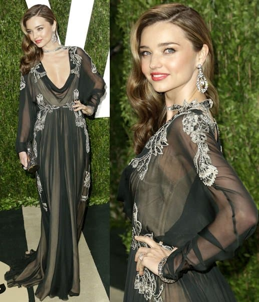 Miranda Kerr attends the 2013 Vanity Fair Oscar Party hosted by Graydon Carter