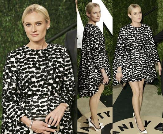 Diane Kruger arrives at the 2013 Vanity Fair Oscar Party hosted by Graydon Carter