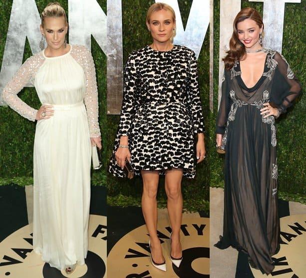 Molly Sims, Miranda Kerr and Diane Kruger at the 2013 Vanity Fair Oscar Party at Sunset Tower 24 Feb 2013