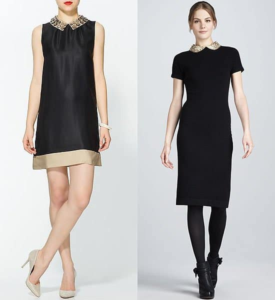 Beaded collar dresses