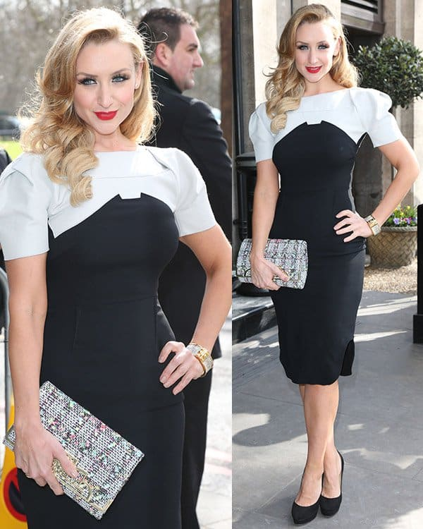 Catherine Tyldesley at The TRIC Awards 2013 held at the Grosvenor House Hotel - Arrivals