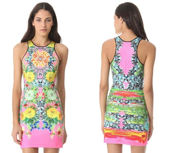 Clover Canyon Turqoise Valley Neoprene Dress