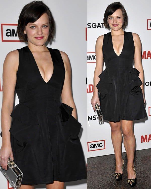 Elisabeth Moss attends AMC's Mad Men - Season 6 Premiere on March 20, 2013