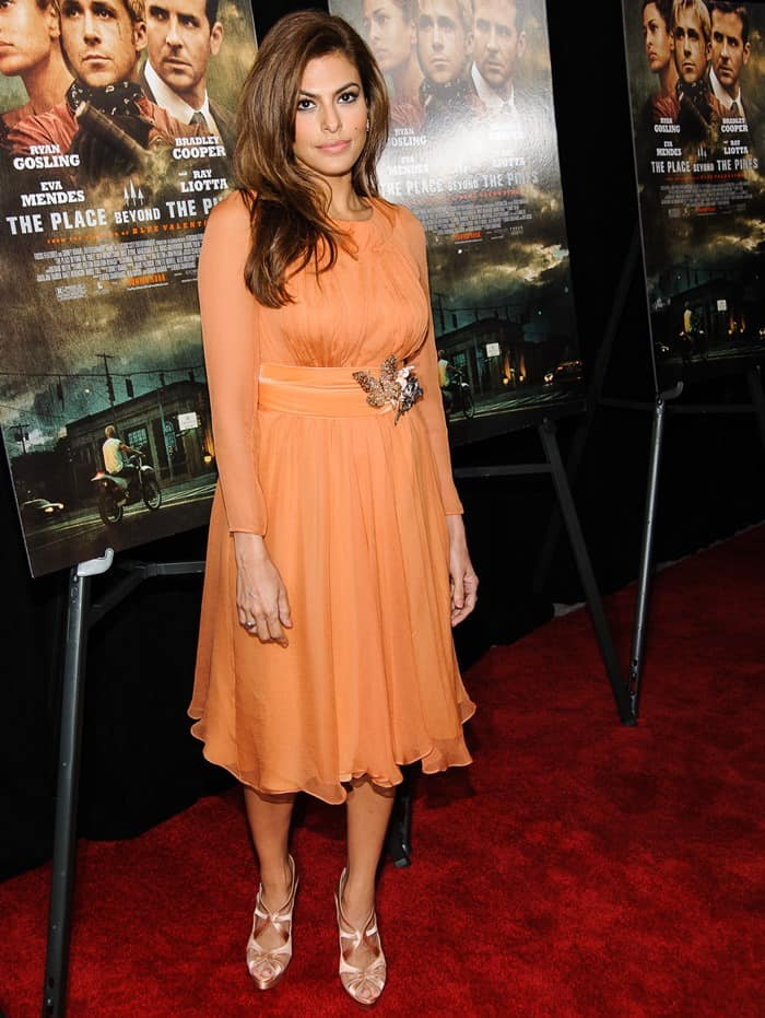 Actress Eva Mendes attends 'The Place Beyond The Pines' New York Premiere at Landmark Sunshine Cinema on March 28, 2013 in New York City