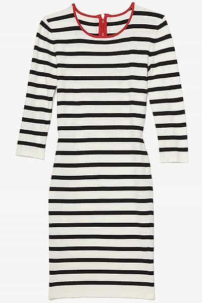 Exclusive for Intermix contrast zipper striped dress