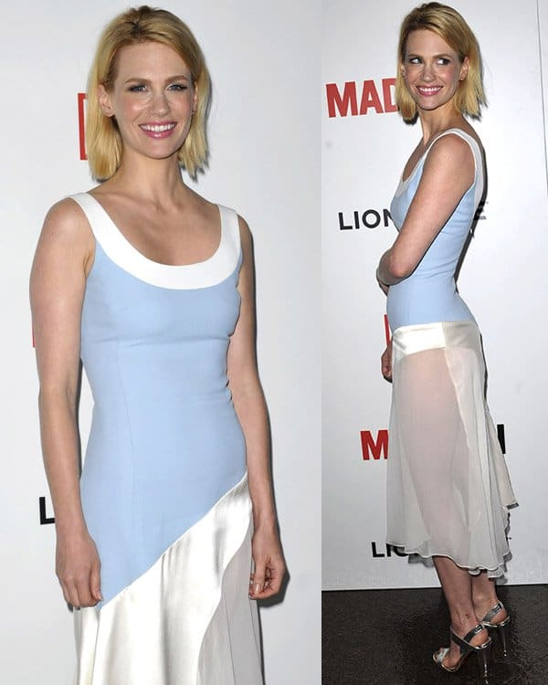 January Jones attends AMC's Mad Men - Season 6 Premiere on March 20, 2013