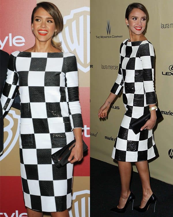 Actress Jessica Alba attends The Weinstein Company's 2013 Golden Globe Awards After Party at The Beverly Hilton hotel on January 13, 2013
