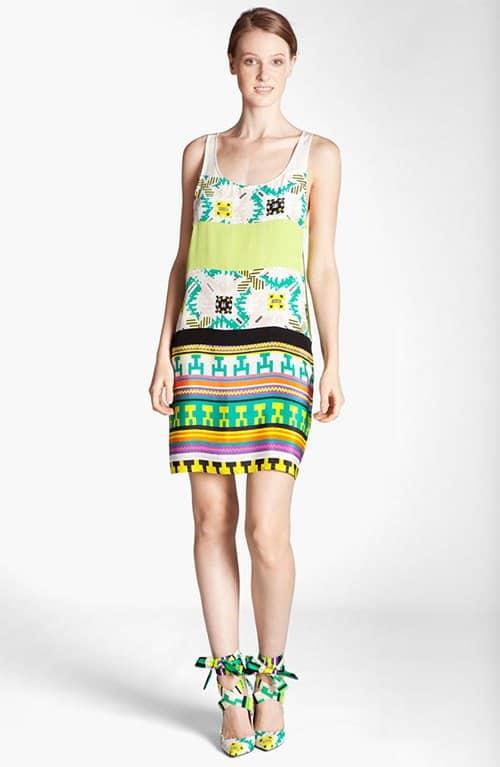 MSGM Memphis Print Silk Tank Dress