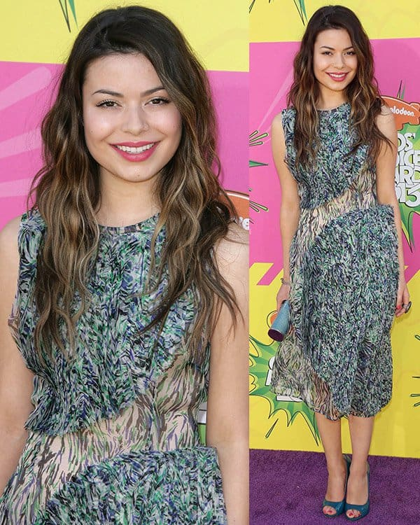 Miranda Cosgrove at Nickelodeon's 26th Annual Kids' Choice Awards on March 23, 2013