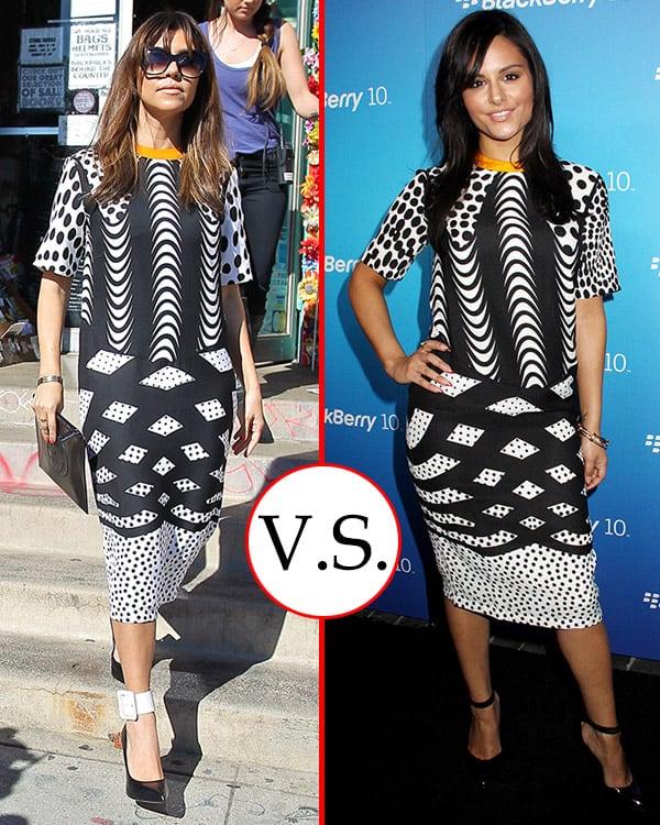 Pia Toscano and Kourtney Kardashian in Asos Dress