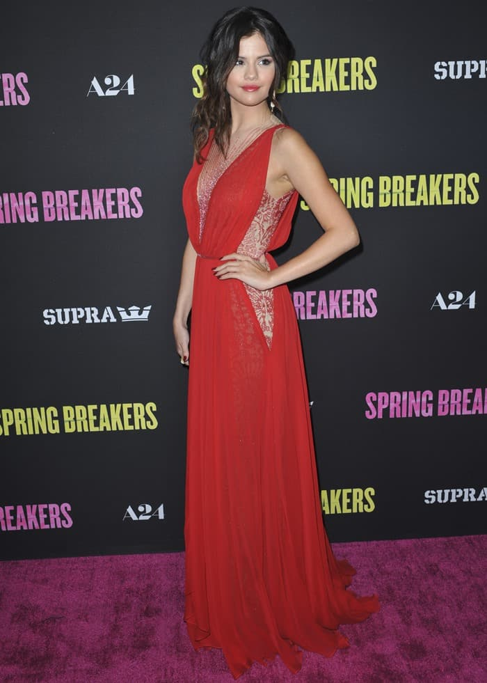 Selena Gomez at the premiere of Spring Breakers held at ArcLight Cinemas in Hollywood on March 14, 2013