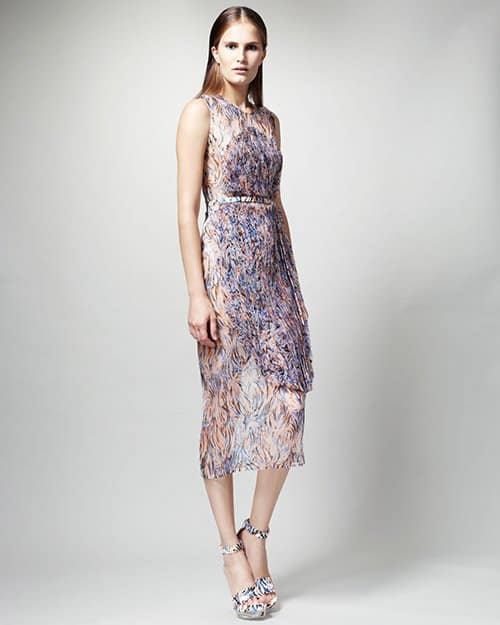 Stella McCartney Printed Organza-Overlay Dress