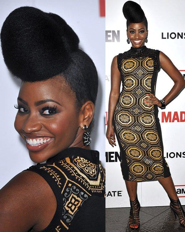 Teyonah Parris attends AMC's Mad Men - Season 6 Premiere on March 20, 2013