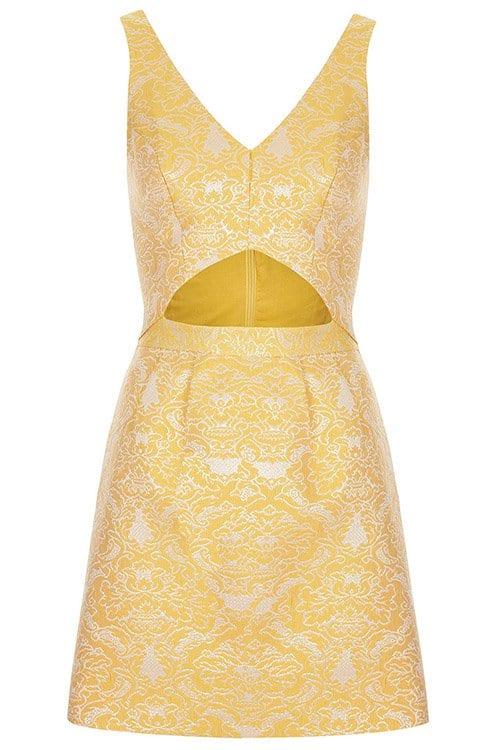 Topshop Brocade Cutout Dress