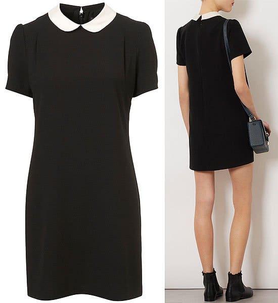 Topshop contrast collar shift dress