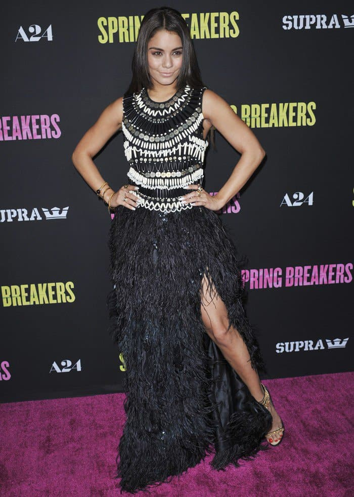 Vanessa Hudgens at the premiere of Spring Breakers held at ArcLight Cinemas in Hollywood on March 14, 2013