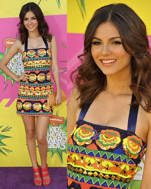 Victoria Justice at Nickelodeon's 26th Annual Kids' Choice Awards on March 23, 2013