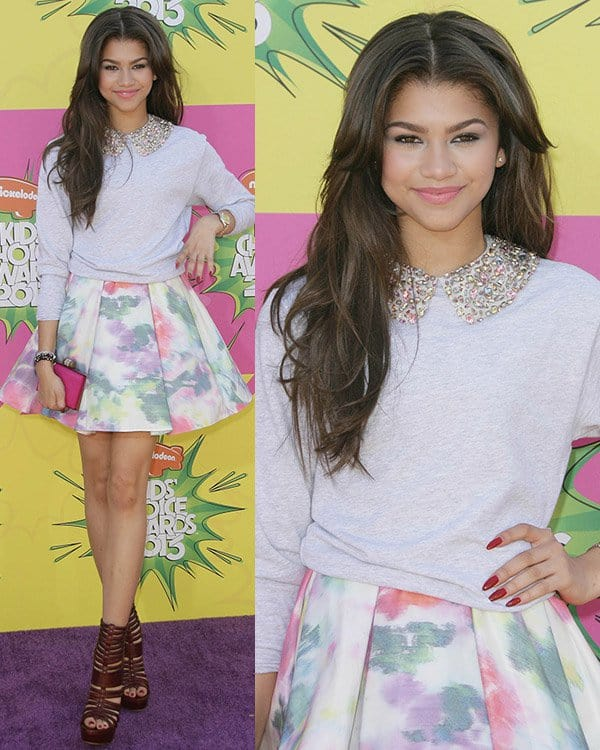 Zendaya Coleman at Nickelodeon's 26th Annual Kids' Choice Awards on March 23, 2013