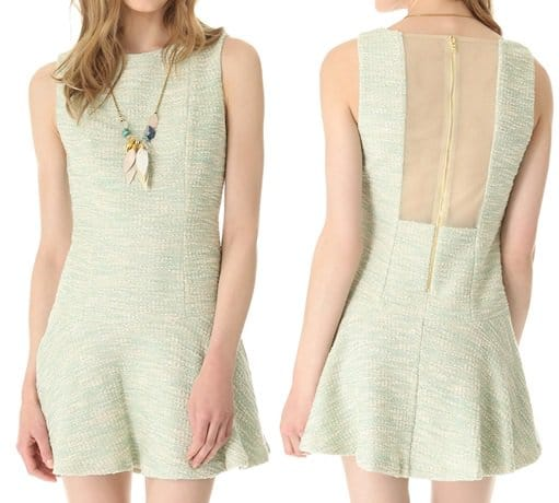 alice + olivia dropwaist boatneck dress