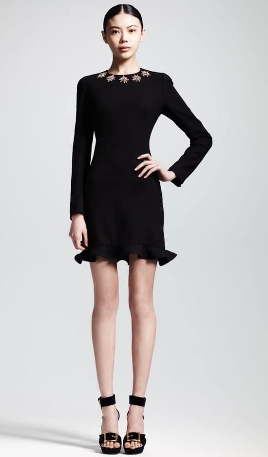 Alexander McQueen Glory Embellished Flounce Dress