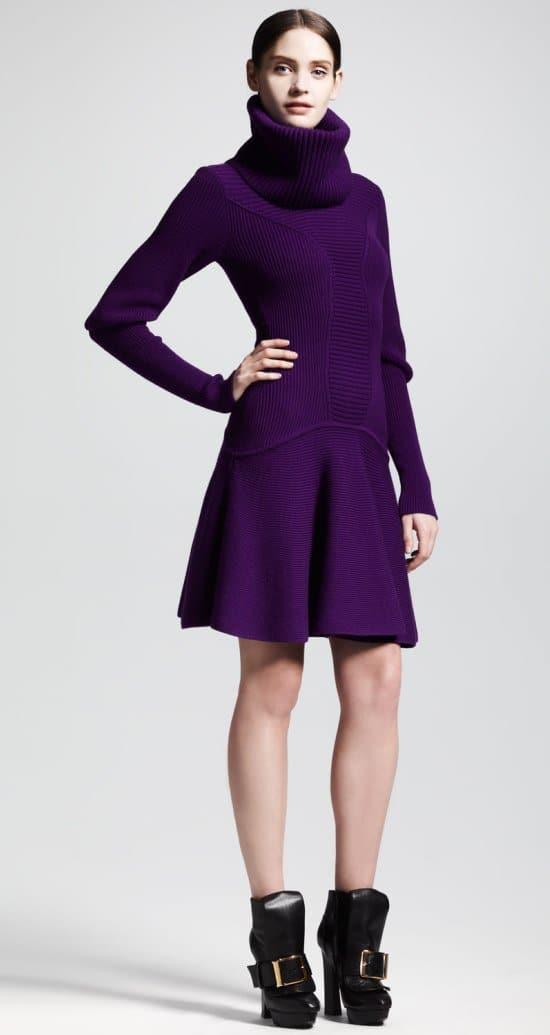 Alexander McQueen Ribbed Snood Dress
