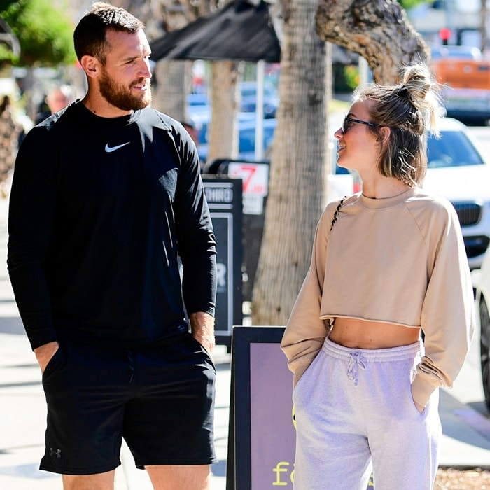 Brooks Laich and Julianne Hough were on friendly terms on February 1, 2020, in Los Angeles