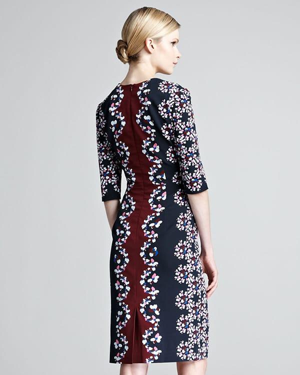 Erdem Sophia Printed Half-Sleeve Dress