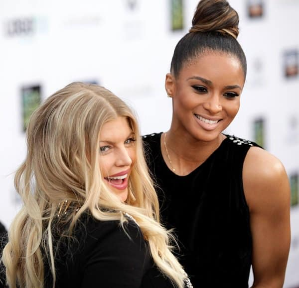 Fergie aka Stacy Ferguson and Ciara at the 6th Annual Logo NewNowNext Awards
