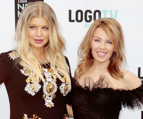 Fergie was joined by Australian singer Kylie Ann Minogue