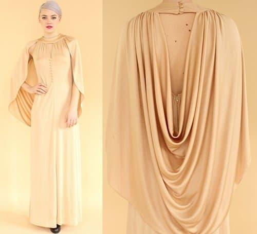 Incredible Gold Crepe Dress