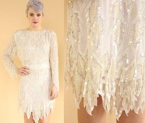 Incredible Silk Sequin Dress
