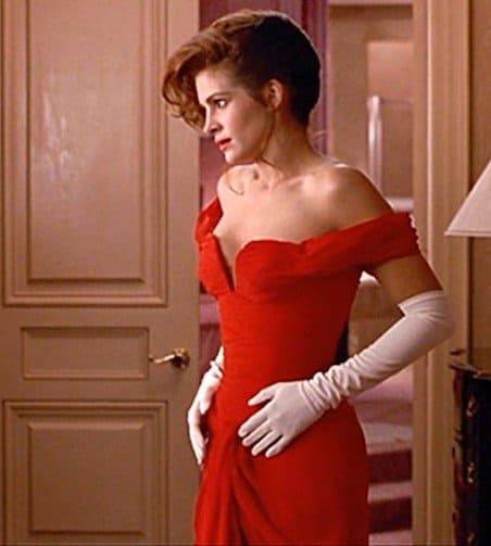 Julia Roberts as Vivian Ward in the beautiful red dress by Marilyn Vance