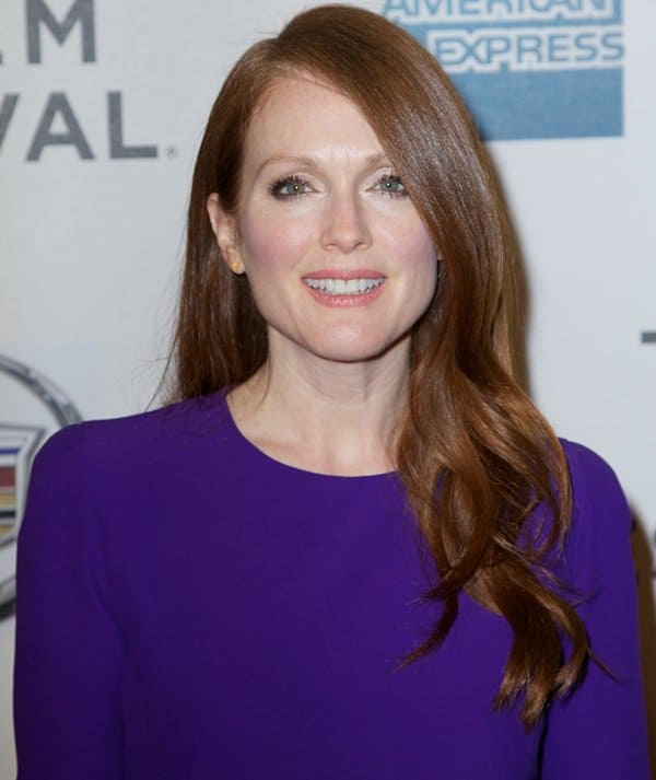 Julianne Moore posing for photographers at the premiere of 'The English Teacher' at the 2013 Tribeca Film Festival in New York City, New York , April 26, 2013