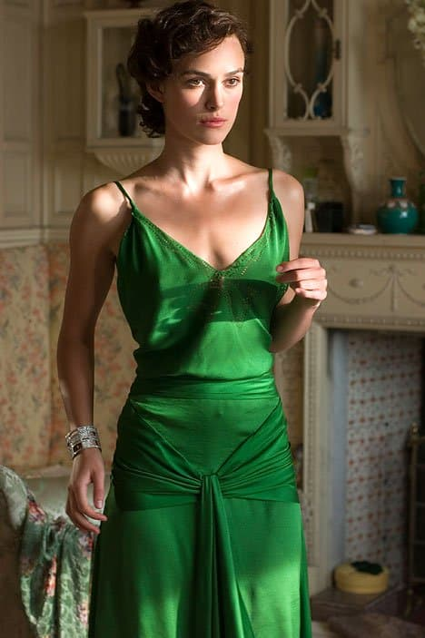 Many consider Keira Knightley's stunning green dress the best costume of all time