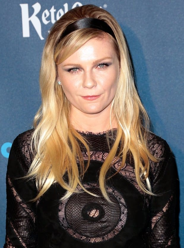 Kirsten Dunst at the 24th Annual GLAAD Media Awards held at the JW Marriott, Los Angeles on April 23, 2013