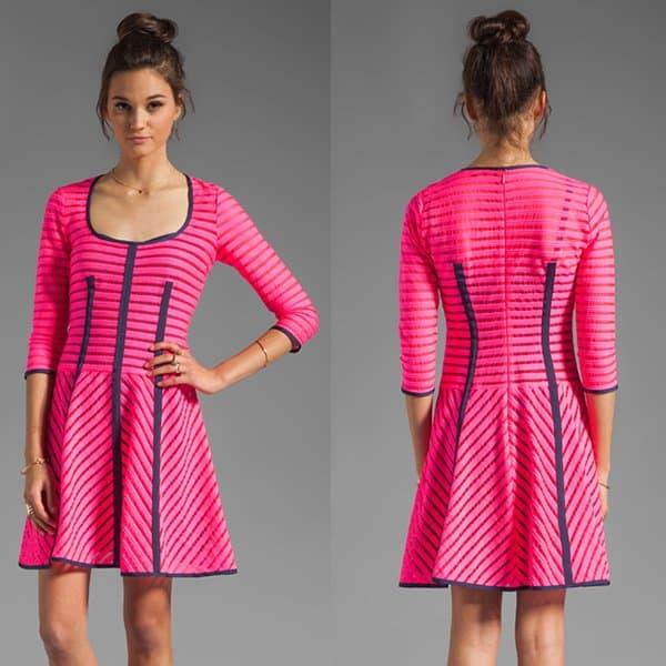 Nanette Lepore Auction Stripe 15 Minutes Dress