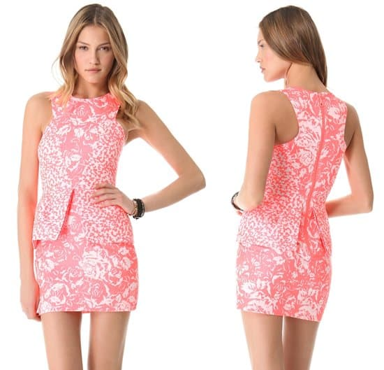 Nicholas French Jacquard Dress_pink