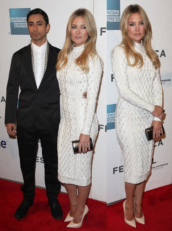 Riz Ahmed and Kate Hudson at the 2013 Tribeca Film Festival for the premiere of 'The Reluctant Fundamentalist' on April 22, 2013